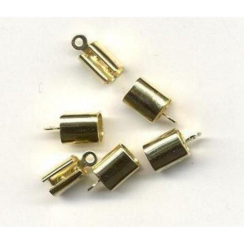 11808-1702 - Eindkap goudkleur 7 mm x 6 mm 6 ST