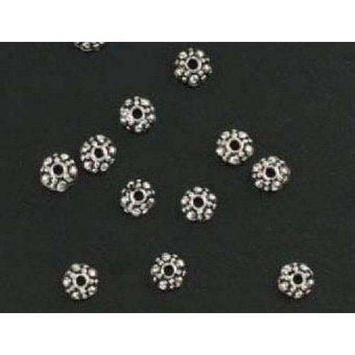 10303-9081 - Metalen kralen zilver bloem klein 15 ST -9081