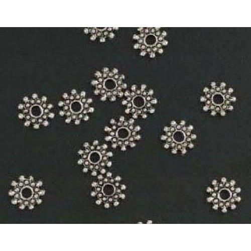 10303-9169 - Metalen kralen zilver bloem groot 15 ST -9169