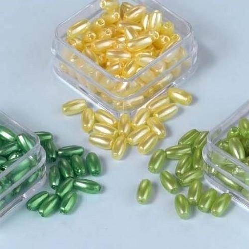 12100-0002 - Parelkraaltjes ovaal geel-groen-l.groen 6 mm -0002