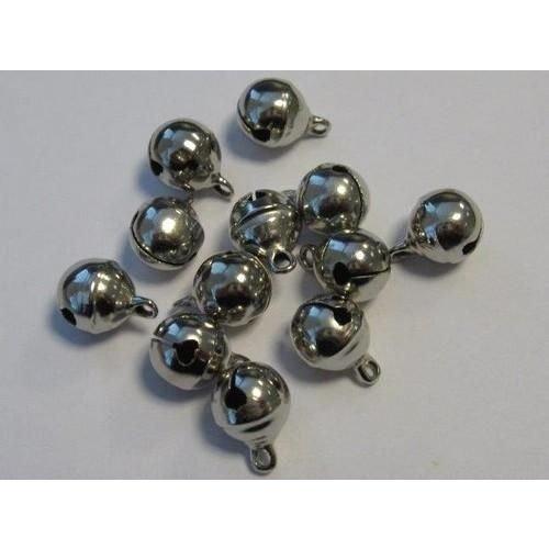 12242-4203 - Sieraden belletjes zilver 10 mm 12 ST