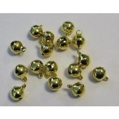 12242-4212 - Sieraden belletjes goudkleur 8 mm 16 ST