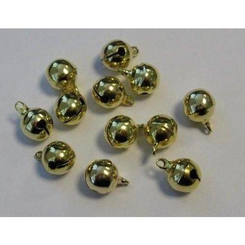 12242-4213 - Sieraden belletjes goudkleur 10 mm 12 ST