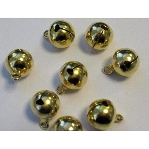 12242-4214 - Sieraden belletjes goudkleur 12 mm 8 ST