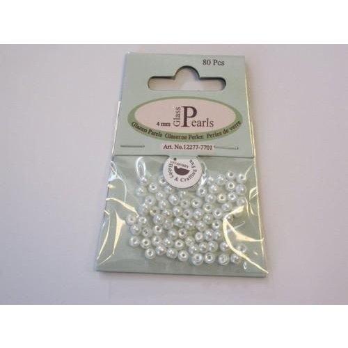 12277-7701 - Glas parels rond 4mm wit zak 80 ST -7701