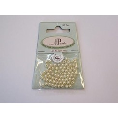 12277-7702 - Glas parels rond 4mm beige zak 80 ST -7702