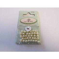 12277-7712 - Glas parels rond 6mm beige zak 35 ST -7712