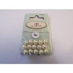 12277-7732 - Glas parels rond 10mm beige zak 15 ST -7732