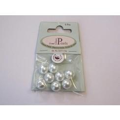 12277-7741 - Glas parels rond 12mm wit zak 8 ST -7741