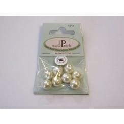 12277-7742 - Glas parels rond 12mm beige zak 8 ST -7742