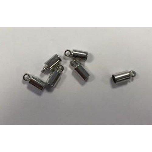 12154-5411 - Eindkap voor 3mm koord 5x3MM platinum 6 ST -5411