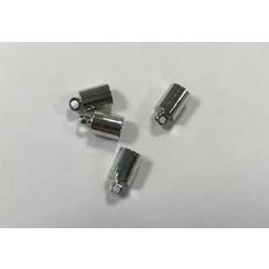 12154-5412 - Eindkap voor 5mm koord 7x3MM platinum 4 ST -5412