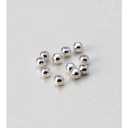 12166-6601 - Metalen kralen 4MM platinum 35 ST -6601