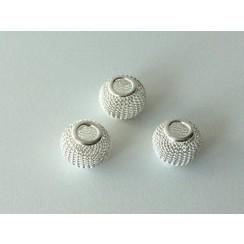 12340-4001 - Netkralen zilverkleur 12x10 mm (gat 3,5 mm) 3st -4001
