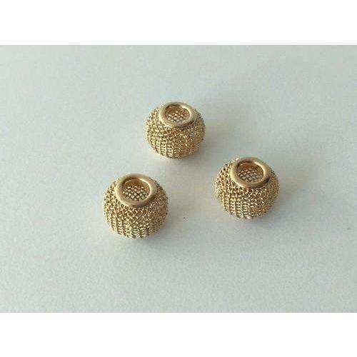 12340-4003 - Netkralen goudkleur 12x10 mm (gat 3,5 mm) 3st -4003