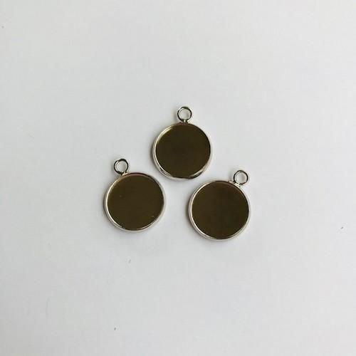 12332-3214 - Hanger met 1 oog rond 14mm zetting (voor epoxy) 3 st -3214 (platinum)