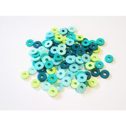 12428-2802 - Kralen Katsuki Mix 6mm Turquoise oceaan +/- 100 st -2802