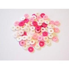 12428-2803 - Kralen Katsuki Mix 6mm Pink candy +/- 100 st -2803