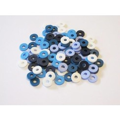 12428-2805 - Kralen Katsuki Mix 6mm Blue jeans +/- 100 st -2805