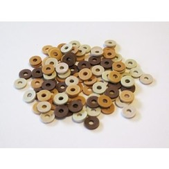 12428-2807 - Kralen Katsuki Mix 6mm Beige / Brown woody +/- 100st -2807