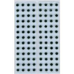 12219-1932 - Wiebelogen zelfklev. rond zwart wit 8 mm 104 ST