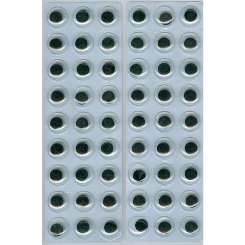 12219-1934 - Wiebelogen zelfklev. rond zwart wit 12 mm 54 ST