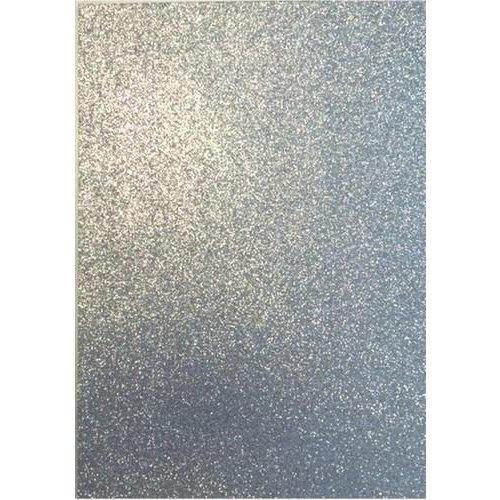 12315-1531 - 5pcs Glitter Foam Sheets Silver, 2mm, 22x30cm