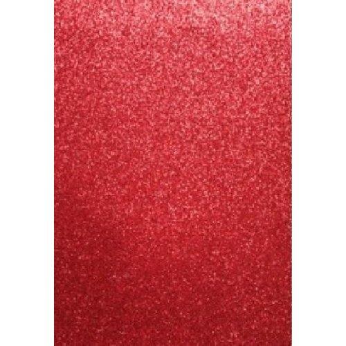 12315-1534 - Glitter Foam Sheets Red, 2mm, 22x30cm, 5pcs
