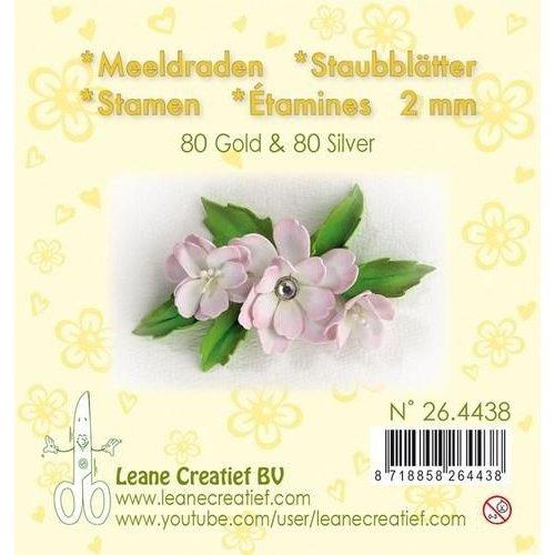 26.4438 - Meeldraden 2mm, ±80 matt & 80 pearl Gold & Silver