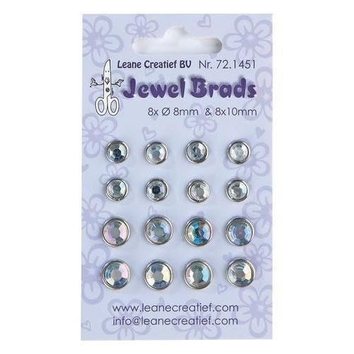 Leane Creatief 72.1451 - Jewel brads chrystal