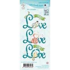 55.4032 - Combi clear stamp Love (combineren mogelijk met die 45.3936)