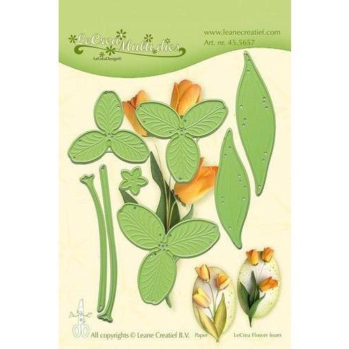 Leane Creatief 45.5657 - Lea'bilitie Multi die flower 017 Tulip 3D snij en embossing mal