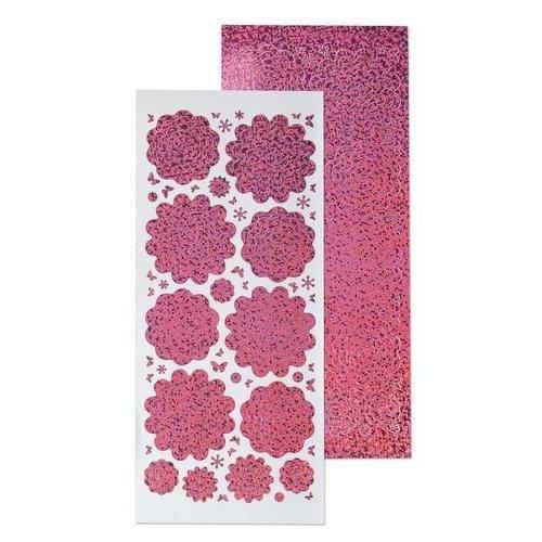 Leane Creatief 61.5848 - 10 Nested Flowers stickers 5. diamond pink