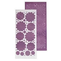 61.5855 - 10 Nested Flowers stickers 6. mirror candy