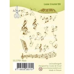 55.5701 - LeCreaDesign combi clear stamp Music