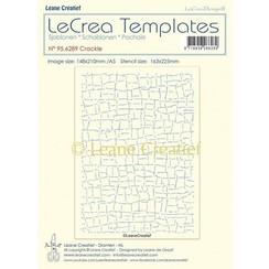 95.6289 - Stencil Crackle, grootte design 148x210mm