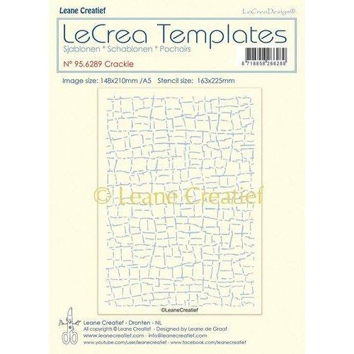 Leane Creatief 95.6289 - Stencil Crackle, grootte design 148x210mm