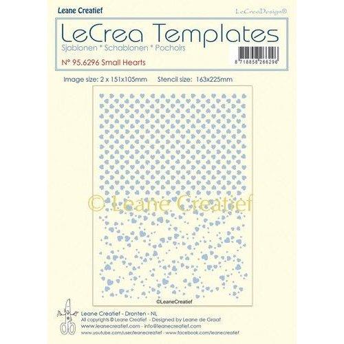 Leane Creatief 95.6296 - Stencil Hartjes, 2 designs,  grootte 151x105mm