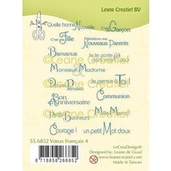 55.6852 - LeCreaDesign® combi clear stamp Franse teksten 4