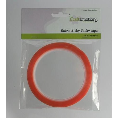 CraftEmotions 3.3186 CE-VERPAKKING - CraftEmotions Extra sticky tape 6 mm 10 MT  1 RL 3.3186