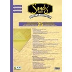 1.0130 - Sandy Art 2-zijdig klevend folie transp. (25 VL)