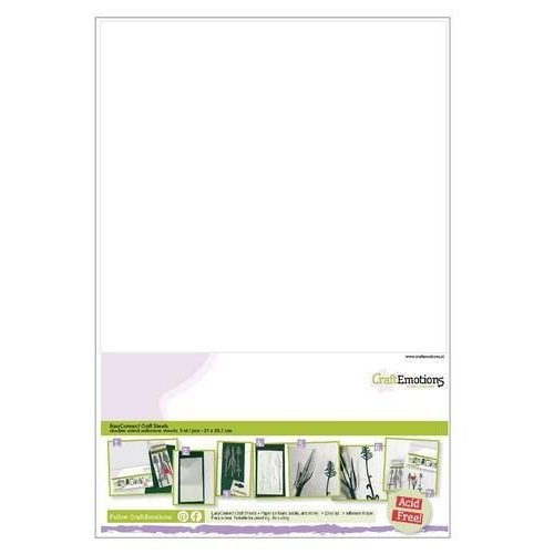 CraftEmotions 119491/0004 - CraftEmotions EasyConnect (dubbelzijdig klevend) Craft sheets A4 - 5 sheets