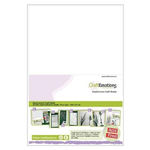 CraftEmotions 119491/0005 - CraftEmotions EasyConnect (dubbelzijdig klevend) Craft sheets A5 - 10 sheets