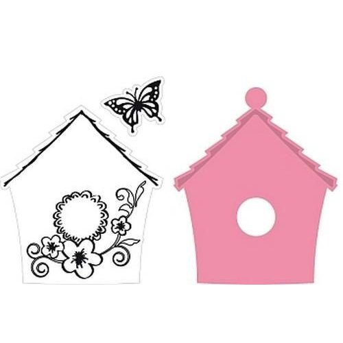 Marianne Design COL1308 - Collectable Birdhouse flowers