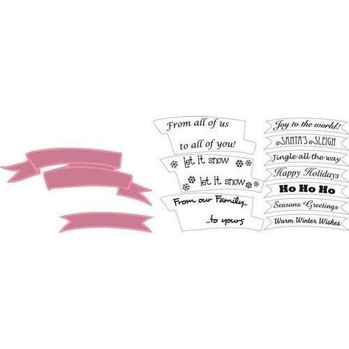 Marianne Design COL1325 - Collectables Banners en tekst kerst 25