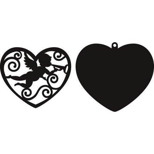Marianne Design CR1283 - Craftables Filigraan engel in hart 3