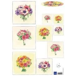IT575 - 3D Knipvellen Bouquet - Summer A4