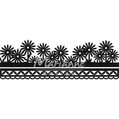 Marianne Design CR1330 - Craftables Anja's flower border 0