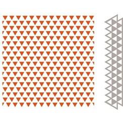 DF3428 - Embossing folder & Die - Driehoeken 8