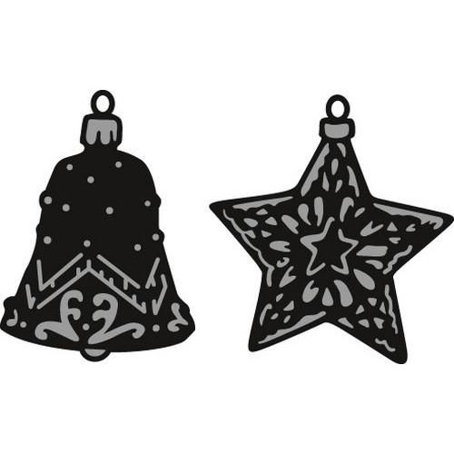 Marianne Design CR1382 - Craftable Tiny's ornaments star & bell 2